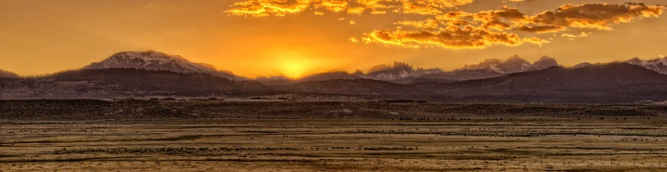 Sierra Crest & Owens River Sunset